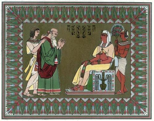 Jacob blesses Pharaoh