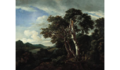 Jacob van Ruisdael - Three Great Trees in a Mountainous Landscape with a River.png