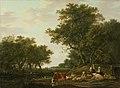 Jacob van Strij - Landschap met landlieden bij hun vee en hengelaars op het water.jpg