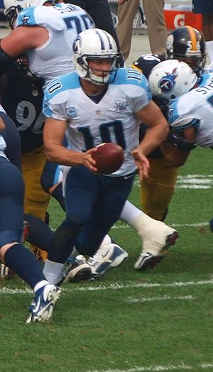 Jake Locker - Jake Locker vs. Pittsburgh Steelers in 2013.