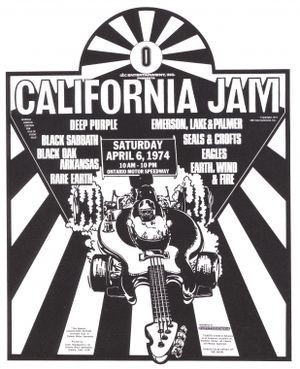 Ontario Motor Speedway - California Jam Promotional ad