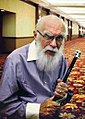 James Randi with Skull Cane 2014.jpg