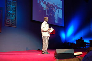 James Shikwati, Kenyan economist, at the TEDGl...