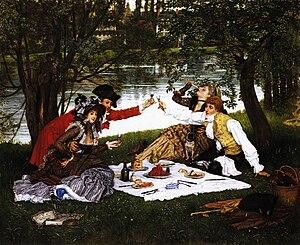 Holyday (Tissot painting) - La Partie carrée, 1876.