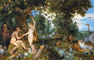 Original sin - Depiction of the sin of Adam and Eve by Jan Brueghel the Elder and Pieter Paul Rubens.