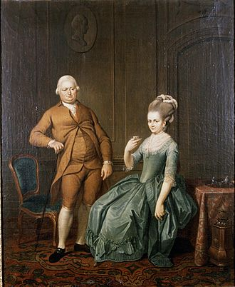 Jacobus Buys - Portrati of industrialist Jan Modderman and his wife, 1777.