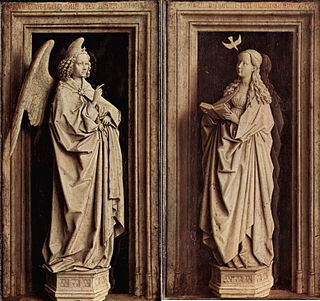 <i>Annunciation</i> (van Eyck, Madrid) painting by Jan van Eyck