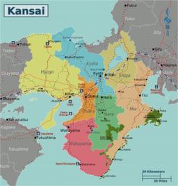 Japan Kansai Map
