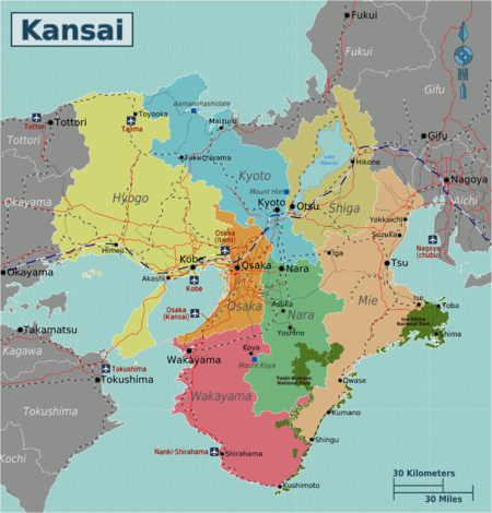 Kansai – Travel guide at Wikivoyage