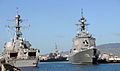Japan Maritime Self Defense Force guided-missile destroyer JS Ashigara (DDG 178) and USS Chafee (DDG 90).jpg