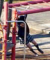 Japanesehighschoolgirlonmonkeybars-dec19-2014.jpg