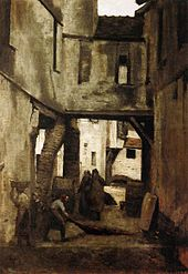Jean-Baptiste-Camille Corot - The Tanneries of Mantes - WGA5302.jpg