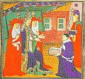 Jean d'Andreas presentant spn Commentaires sur les Decretales à Jean XXII.jpg