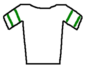 2010 Volta a Catalunya - White jersey with green stripes
