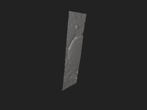 Modèle 3D du site d'atterrissage de Mars 2020, le cratère de Jezero.
