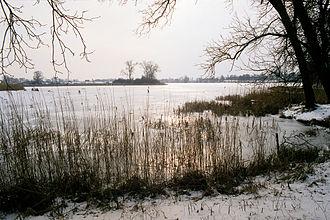Mogilno - Mogilno Lake in winter in Mogilno