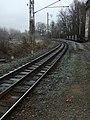 Jindřichův Hradec, koleje o obou rozchodech.JPG