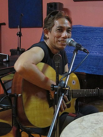 Joey Ayala - Joey Ayala performing at Conspiracy Bar in Quezon City, Metro Manila