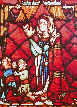 Joanna of Pfirt - Joanna in a medieval stained glass window in Switzerland