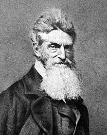 Retrato preto e branco de John Brown