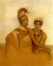 John Hayter - 'Govenor Boki of Oahu and his wife Liliha', pastel, c. 1860,.jpg