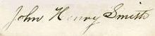 Signature of John Henry Smith