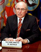 Fotografía de John Howard, primer ministro de Australia, tomada en junio de 1997