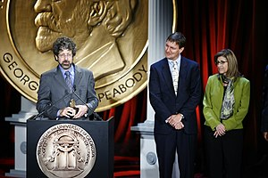 Nova (TV series) - John Rubin, John Bredar and Paula Apsell at the 68th Annual Peabody Awards for Ape Genius