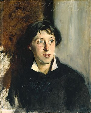 Vernon Lee - Portrait of Violet Paget by John Singer Sargent