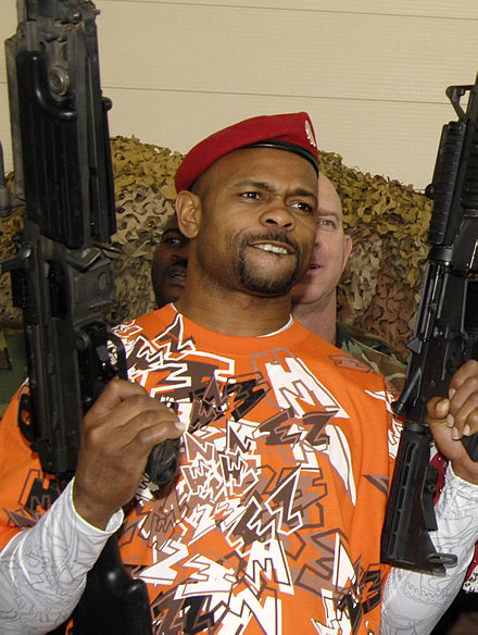 Jones promoting his fight against Trinidad, 2007