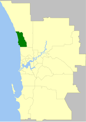 City of Joondalup - Location of Joondalup in the Perth metropolitan area