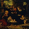 Joos van Cleve - Mary and Joseph, kneeling before the child Jesus.jpg