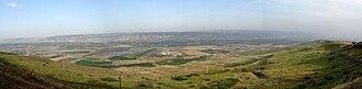 Dead Sea Transform - Panorama of Jordan Valley