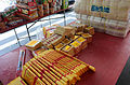 Joss Paper on Table for 2015 Ghost Festival of Futai Village, Songshan District 20150822.jpg