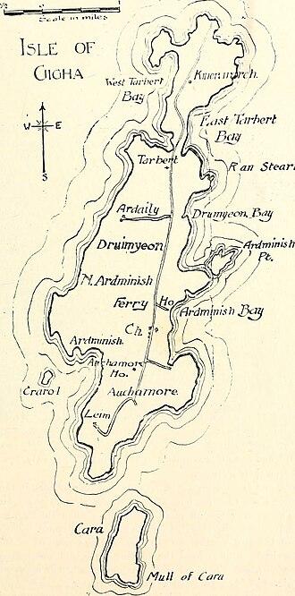 Gigha - Map of the island