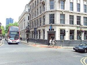 Investors Compensation Scheme Ltd v West Bromwich Building Society - Image: Junction of Colmore Row and Bennetts Hill, Birmingham DSC08808