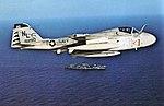 KA-6D Intruder of VA-95 in flight over USS Coral Sea (CVA-43), in 1973.jpg