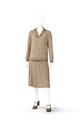 KLÄNNING Av rosabeige siden, tvådelad med blus och kjol. Tillhört Irma von Geijer - Hallwylska museet - 89130.tif