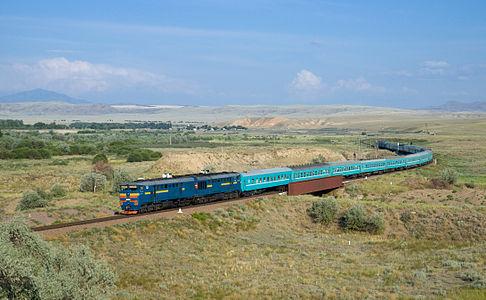 KTZ train 22 near Aynabulak
