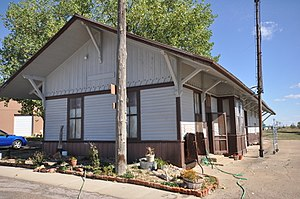 National Register of Historic Places listings in Jackson County, South Dakota - Image: Kadoka SD Former RR Depot