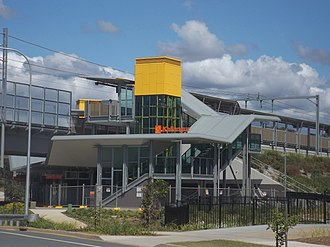 Kallangur railway station - Image: Kallangur railway station at Kallangur, Queensland