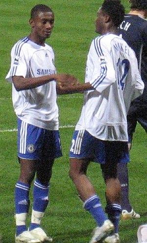 Salomon Kalou - Kalou with John Obi Mikel