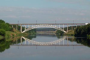 Kamensk-Uralsky - Railway bridge over the Iset River
