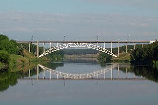 Rail Bridge over the Iset River, Kamensk-Uralsky building of Kamensk-Uralsky, Russia