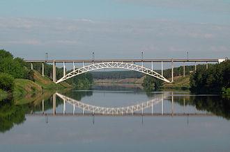 Kamensk-Uralsky - Railway bridge over the Iset River