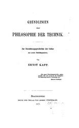 Ernst Kapp: Grundlinien einer Philosophie der Technik