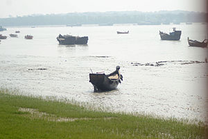 Karnaphuli River - Karnaphuli river from BNA road