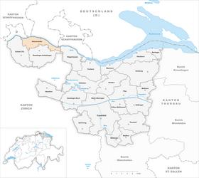 Karte von Diessenhofen