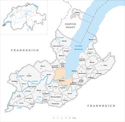 Karte Gemeinde Genève 2007