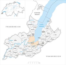 Karte von Genf Genève